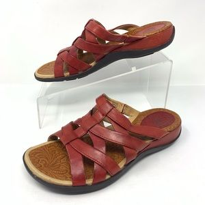 Ariat Red Leather Strappy Sandals Size 8
